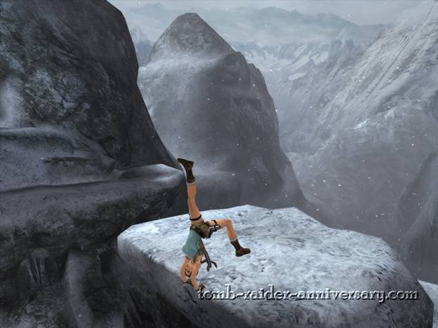 Tomb Raider Anniversary - Peru: Mountain Caves - Lara's special liftup