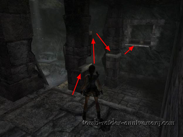 Tomb Raider Anniversary - Peru: Mountain Caves - Jump to get the small medikit
