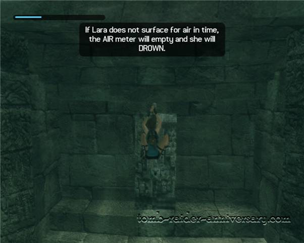 Tomb Raider Anniversary - Peru: City of Vilcabamba - Pull the lever underwater to open the grate