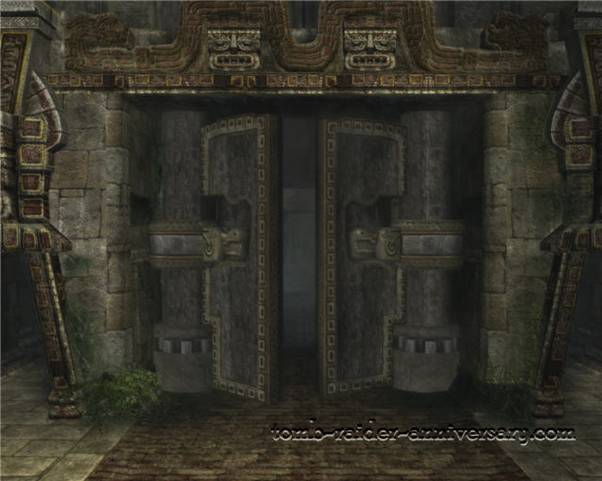 Tomb Raider Anniversary - Peru: City of Vilcabamba - The big door opens