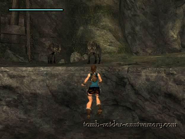 Tomb Raider Anniversary - Peru: The Lost Valley - Careful with the wolves