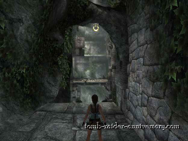 Tomb Raider Anniversary - Peru: The Lost Valley - Grapple across to the wooden platform