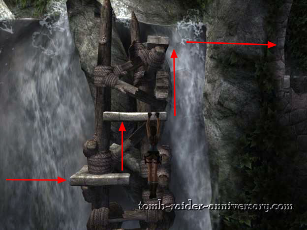 Tomb Raider Anniversary - Peru: The Lost Valley - Follow the arrows to get across