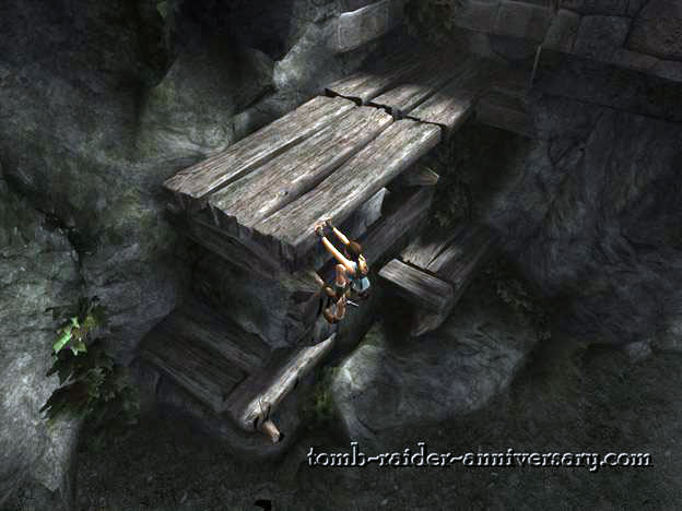 Tomb Raider Anniversary - Peru: The Lost Valley - Climb the wood pile on the left