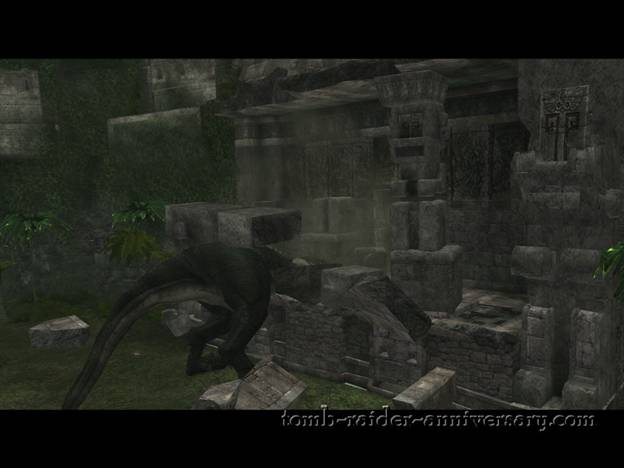 Tomb Raider Anniversary - Peru: The Lost Valley - The big T-Rex is finally dead