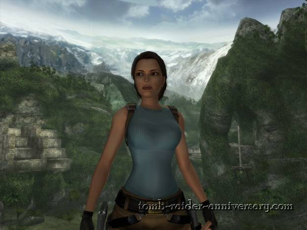 Tomb Raider Anniversary - Peru: The Lost Valley - A bit of drooling at Lara Croft in Peru
