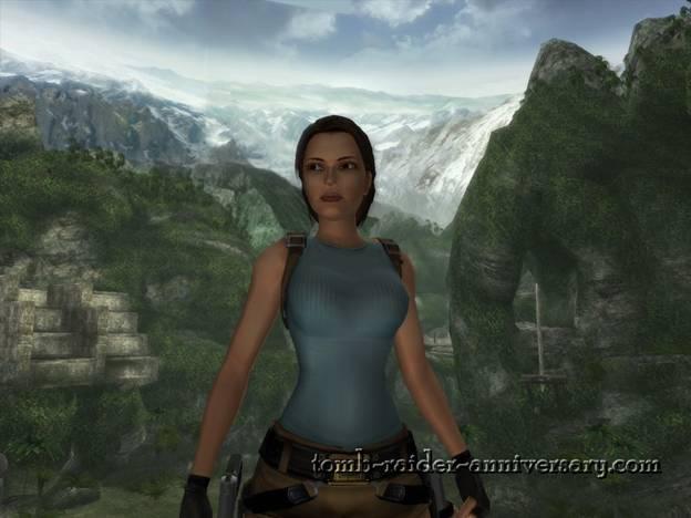 Tomb Raider Anniversary - Peru: The Lost Valley - A bit of drooling at Lara Croft in Peru