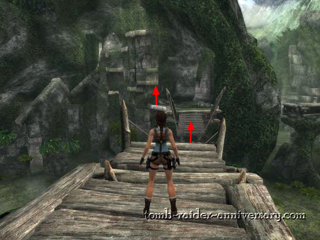 Tomb Raider Anniversary - Peru: The Lost Valley - Jump across the broken bridge