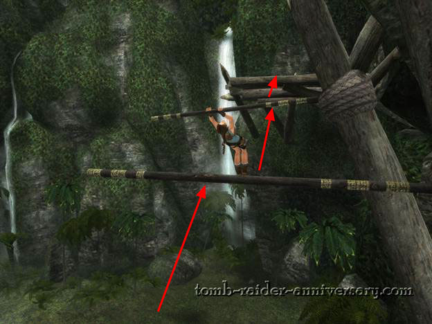 Tomb Raider Anniversary - Peru: The Lost Valley - Swing across twice and you're almost done