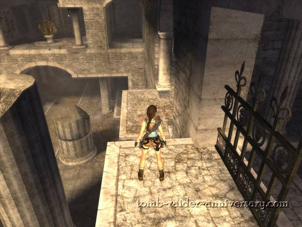 Tomb Raider Anniversary St Francis Folly Walkthrough to the balcony nearby