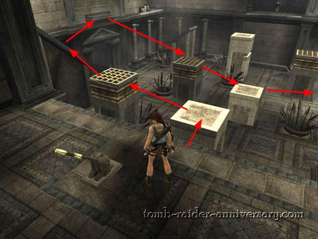 Tomb Raider Anniversary Midas's Palace walkthrough