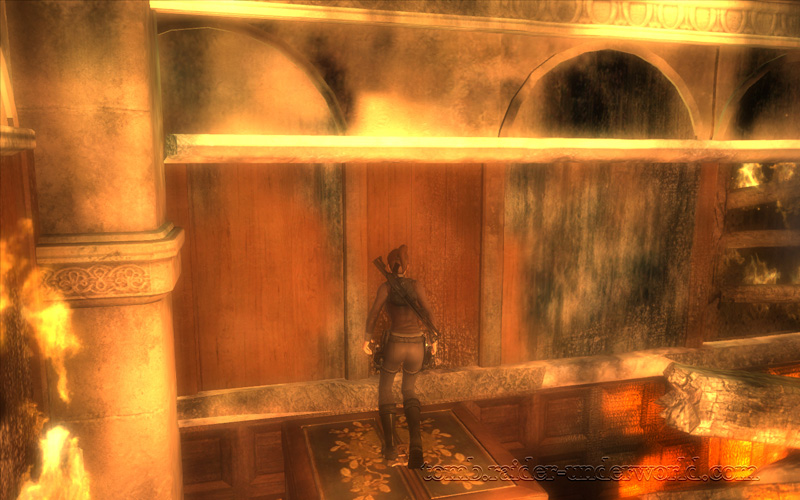 Tomb Raider Underworld Prologue walkthrough ledge screenshot