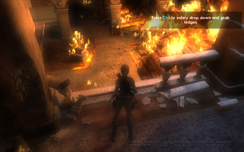 Tomb Raider Underworld Prologue walkthrough drop down screenshot