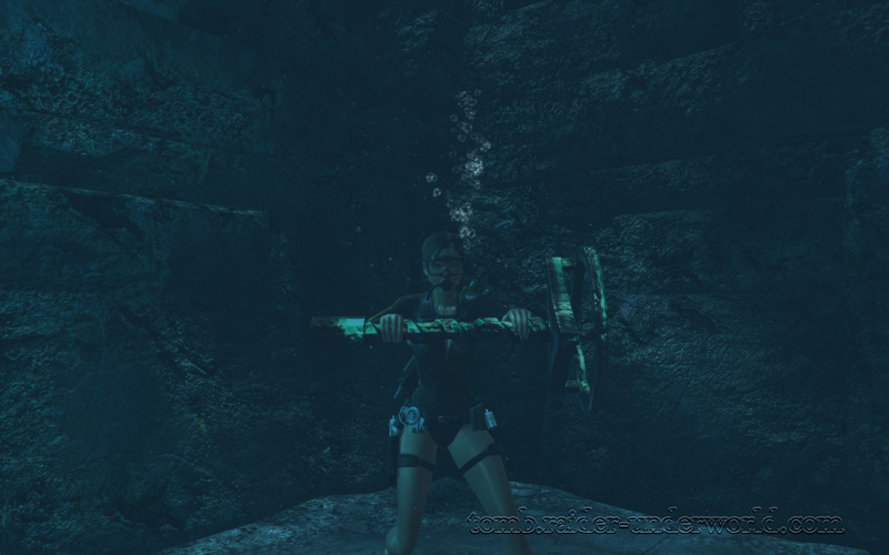 Tomb Raider Underworld walkthrough Mediterannean Sea - The Path to Avalon Lara axle screenshot