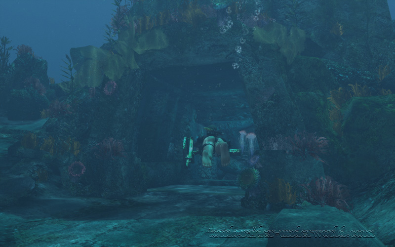 Tomb Raider Underworld walkthrough Mediterannean Sea - The Path to Avalon  axle cavern screenshot