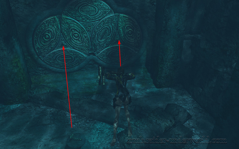 Tomb Raider Underworld walkthrough Mediterannean Sea - The Path to Avalon  axle wheel screenshot