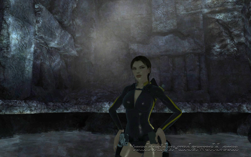 Tomb Raider Underworld walkthrough Mediterannean Sea - The Path to Avalon Lara wet screenshot