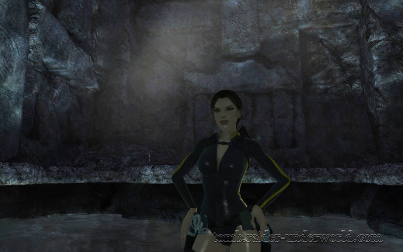 Tomb Raider Underworld walkthrough Mediterannean Sea - The Path to Avalon Lara wet costume screenshot
