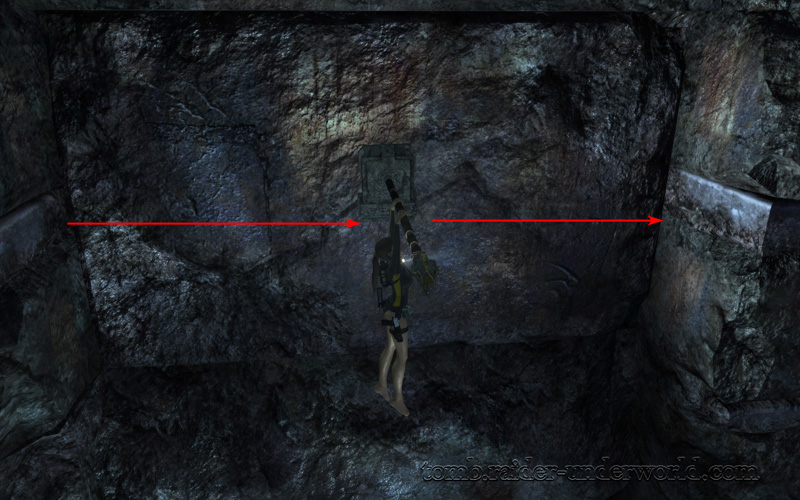 Tomb Raider Underworld walkthrough Mediterannean Sea - The Path to Avalon artifact jump screenshot