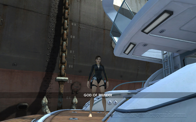 Tomb Raider Underworld walkthrough Mediteranean Sea - God of Thunder level start screenshot