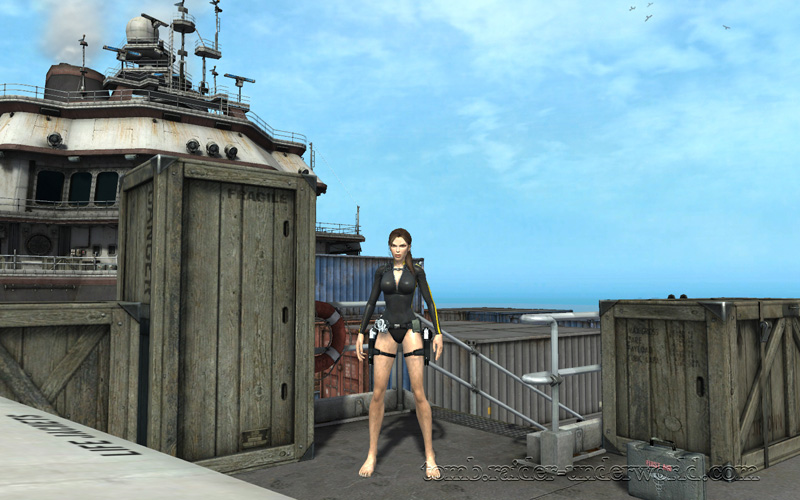 Tomb Raider Underworld walkthrough Mediteranean Sea - God of Thunder health pack screenshot