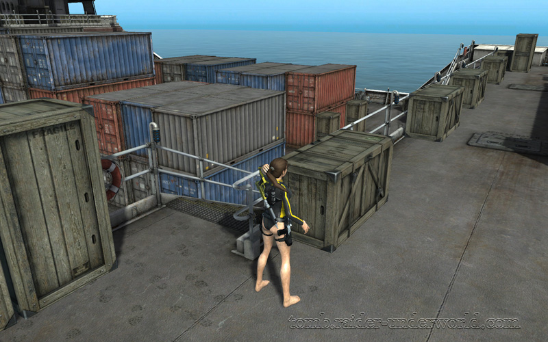 Tomb Raider Underworld walkthrough Mediteranean Sea - God of Thunder crates screenshot