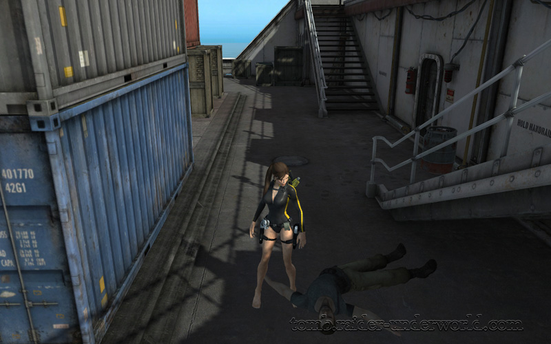Tomb Raider Underworld walkthrough Mediteranean Sea - God of Thunder dead bugger screenshot