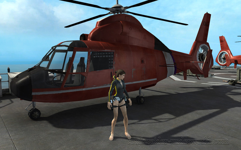 Tomb Raider Underworld walkthrough Mediteranean Sea - God of Thunder heli photo screenshot