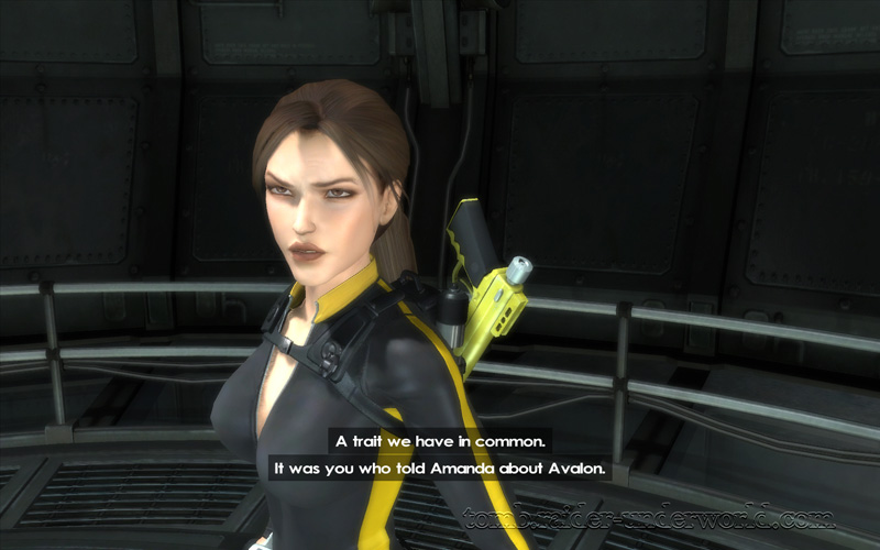 Tomb Raider Underworld walkthrough Mediteranean Sea - God of Thunder Natla conversation screenshot