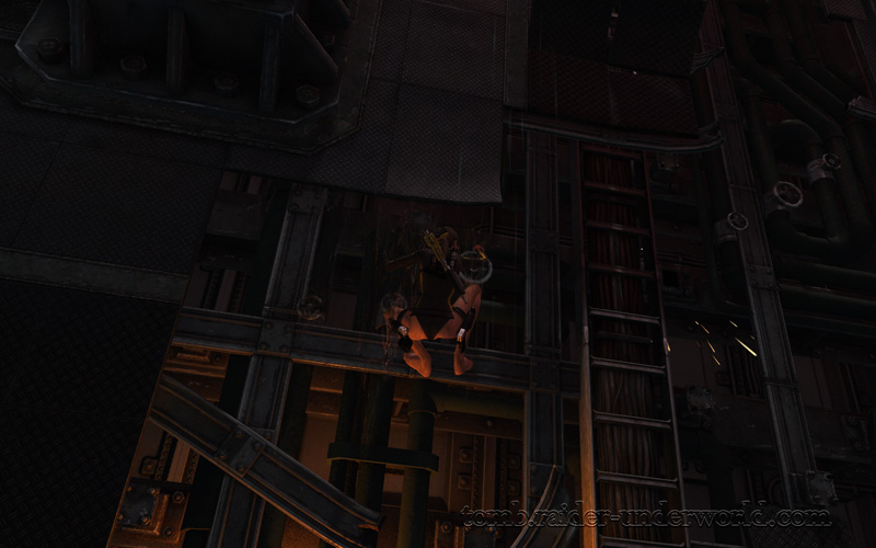 Tomb Raider Underworld walkthrough Mediteranean Sea - Realm of the Dead  climb ledges screenshot