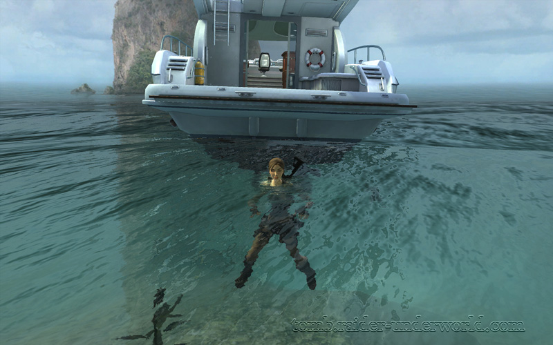 Tomb Raider Underworld walkthrough Coastal Thailand - Remnants water screenshot