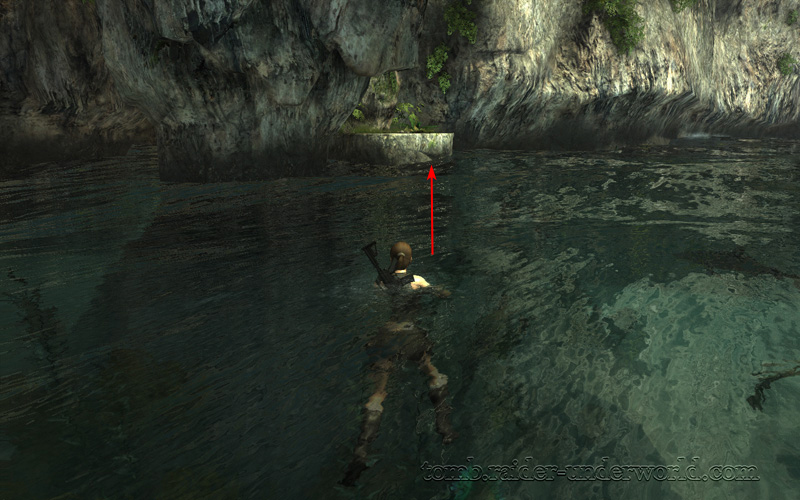 Tomb Raider Underworld walkthrough Coastal Thailand - Remnants Lara swim screenshot