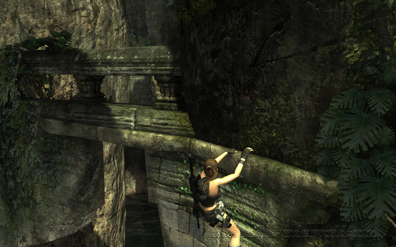 Tomb Raider Underworld walkthrough Coastal Thailand - Remnants Lara artifact fork left screenshot