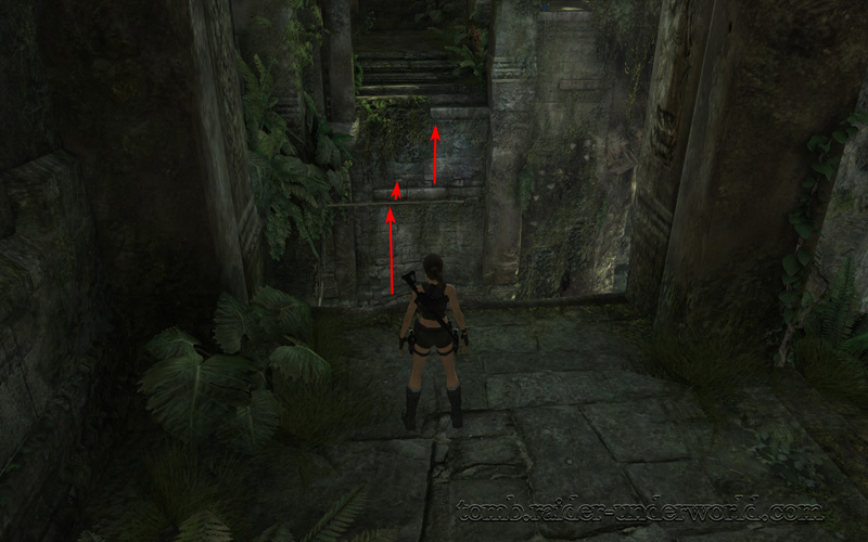 Tomb Raider Underworld walkthrough Coastal Thailand - Remnants slope jump screenshot