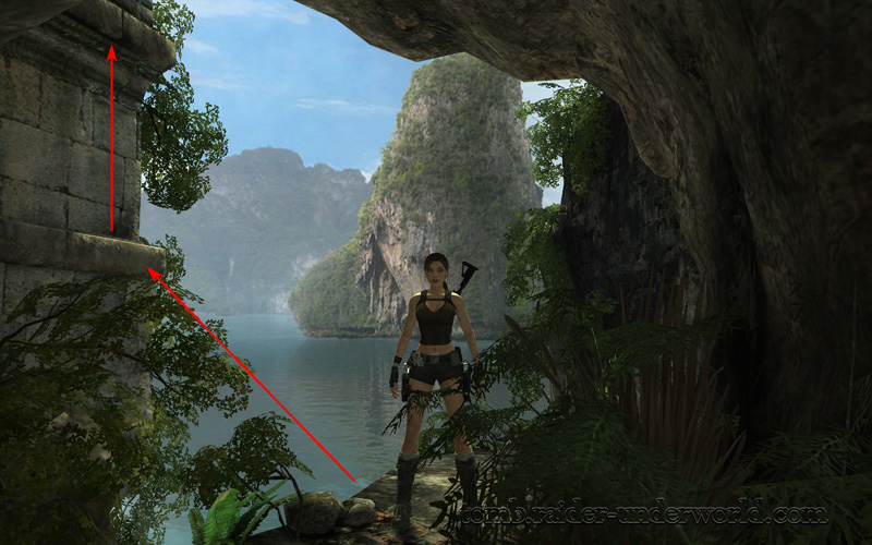 Tomb Raider Underworld walkthrough Coastal Thailand - Remnants island view screenshot