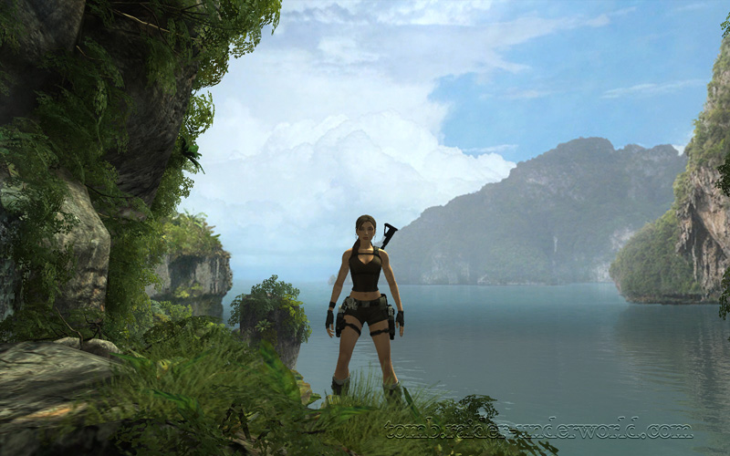Tomb Raider Underworld walkthrough Coastal Thailand - Remnants awesome island view screenshot