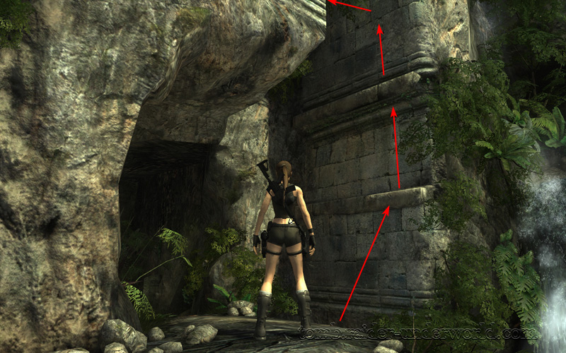 Tomb Raider Underworld walkthrough Coastal Thailand - Remnants  jump ledge screenshot