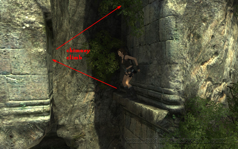 Tomb Raider Underworld walkthrough Coastal Thailand - Remnants  chimney jump screenshot