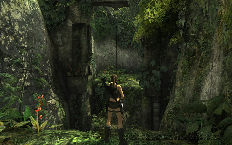 Tomb Raider Underworld walkthrough Coastal Thailand - Remnants  grapple jump screenshot