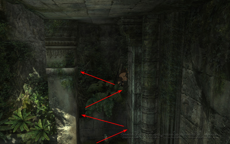 Tomb Raider Underworld walkthrough Coastal Thailand - Remnants chimney jump path screenshot