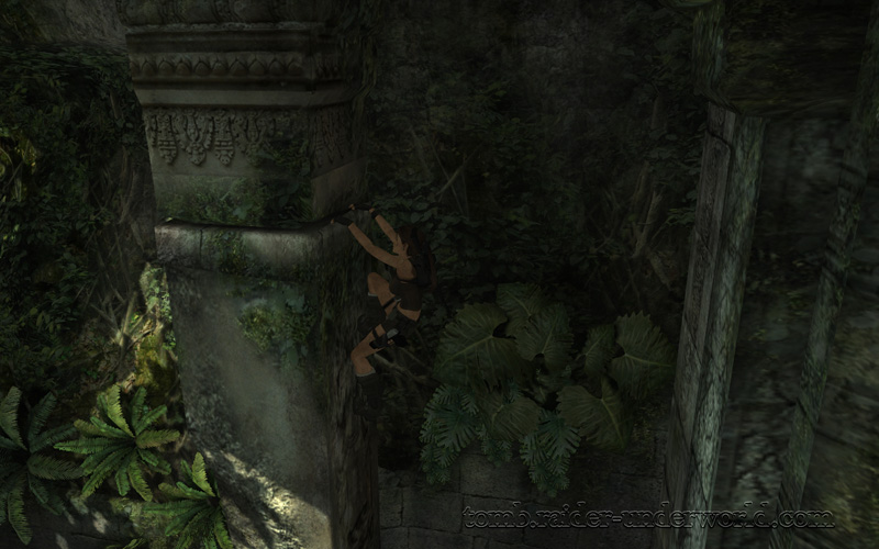 Tomb Raider Underworld walkthrough Coastal Thailand - Remnants ledge grab screenshot