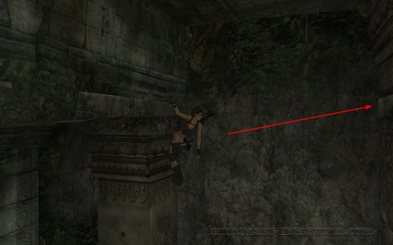 Tomb Raider Underworld walkthrough Coastal Thailand - Remnants top ledge jump screenshot