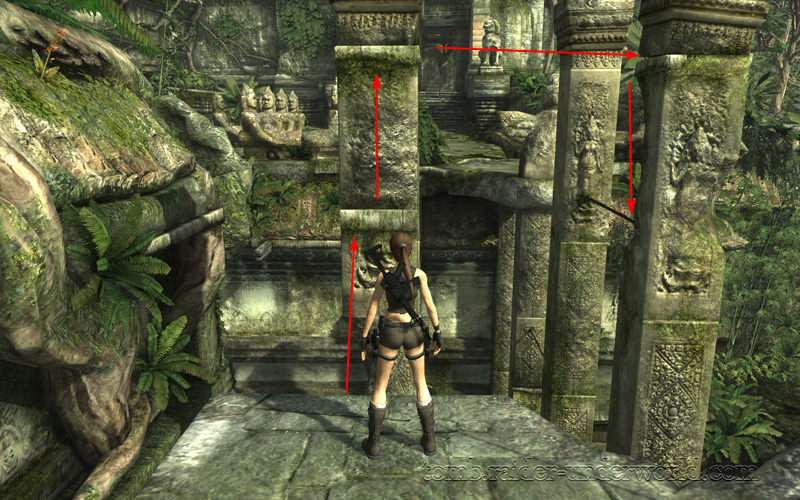 Tomb Raider Underworld walkthrough Coastal Thailand - Remnants how to get down screenshot