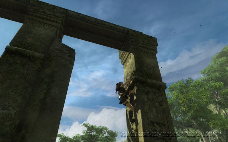 Tomb Raider Underworld walkthrough Coastal Thailand - Remnants rock pillars top screenshot