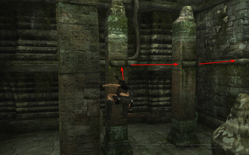 Tomb Raider Underworld walkthrough Coastal Thailand - Bhogavati climb pole screenshot