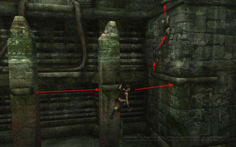 Tomb Raider Underworld walkthrough Coastal Thailand - Bhogavati ledge path screenshot