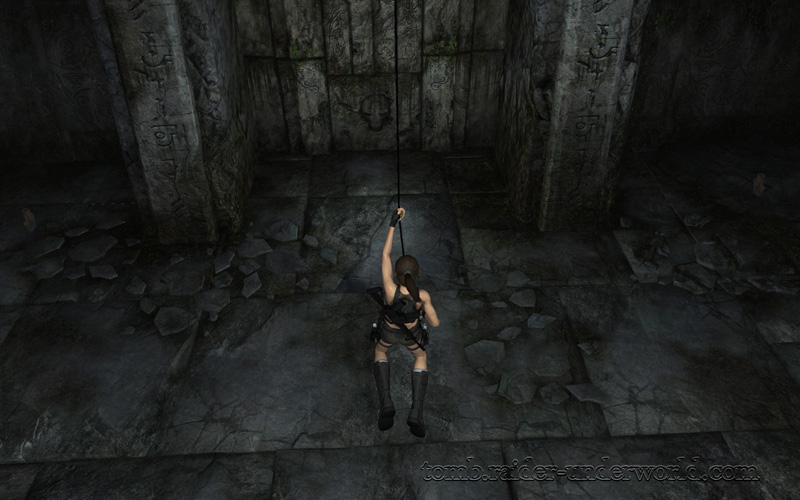 Tomb Raider Underworld walkthrough Coastal Thailand - The Ancient World grapple down screenshot
