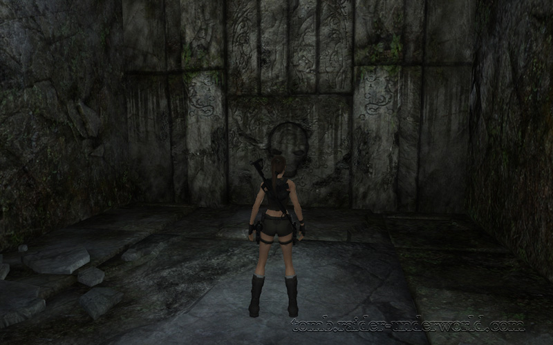Tomb Raider Underworld walkthrough Coastal Thailand - The Ancient World large door screenshot