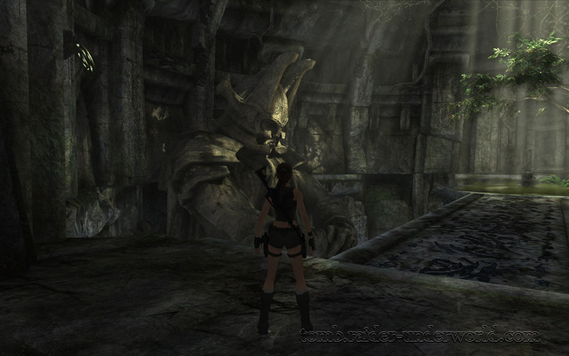 Tomb Raider Underworld walkthrough Coastal Thailand - The Ancient World gauntlet room screenshot