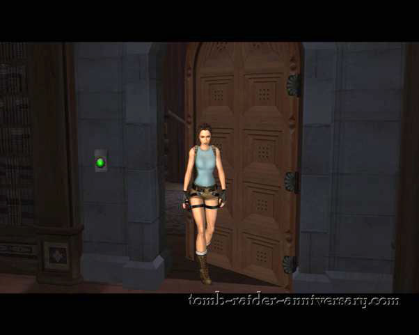 Tomb Raider Anniversary - Croft Mansion - The door locks behind you